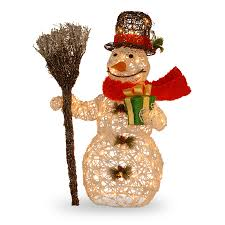 snowman decoration with clear lights archives outdoor light up christ large size