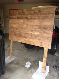 diy full size headboard 7 1x6x6 boards from lowe s 2 1x4x6