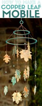 How to Make a DIY Copper Leaf Mobile