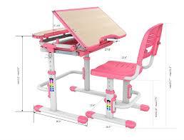 desk chairs for children. Bobbie Pink/Blue Children Adjustable Furniture Desk \u0026 Chair Set Chairs For