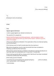 Sample Dismissal Letter Appeal Against Dismissal Letter Sample In Word And Pdf Formats