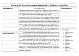 examples of an essay opinion layout