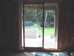 basement sliding glass door treatments