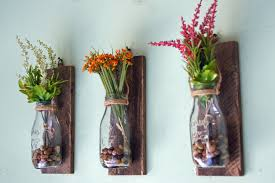 wine bottle wall flower vases hanging vase decordecorative gl