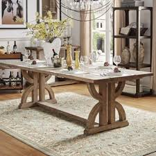 Paloma Salvaged Reclaimed Pine Wood Rectangular Trestle Table by iNSPIRE Q  Artisan