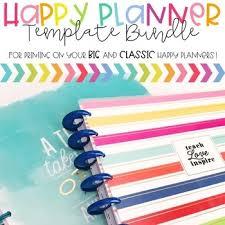 Planner 2020 Template Happy Planner Template Bundle Teacher Edition 2019 2020 Tpt