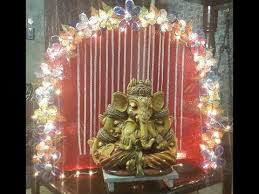ganpati decoration ideas at home ganesh pooja decoration youtube