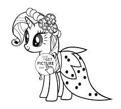 Small Picture Stylish Rarity My little pony coloring page for kids for girls