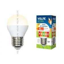 Светодиодная <b>лампа Volpe</b> Optima Globe <b>LED</b>-<b>G45</b>-<b>6W</b>/<b>WW</b>/<b>E14</b> ...