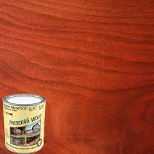 Red wood stain Oak Wood Oilbased Pacific Redwood Penetrating Exterior Stain And Sealer Home Depot Preserva Wood Qt Oilbased Pacific Redwood Penetrating Exterior