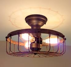 cheap rustic lighting. Rustic INDUSTRIAL Flush Mount Ceiling Light Cage Cheap Lighting I