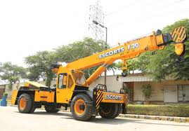 Escorts F20 Crane With Front Wheel Drive For Easy Traction