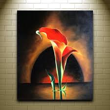 beautiful flower oil painting modern art canvas painting africa