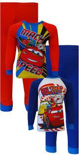 Lighting Mcqueen Pajamas Disney Pixar Cars Team Lightning Mcqueen 4 Piece Pajama Set