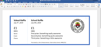 Create Tickets In Word Raffles And Raffle Tickets One Secret Tip To Create Awesome