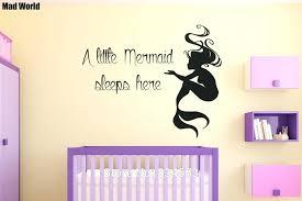 little mermaid wall art mad world mermaid a little mermaid sleeps here wall art stickers wall little mermaid wall art