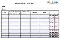 Exercise Printables Index Lovetoknow