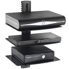 Floating Shelves For Tv Accessories Amazon VonHaus 100x Black Floating Shelves with Strengthened 32