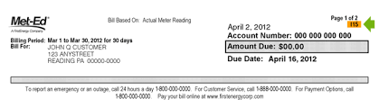 met ed 2020 meter reading work schedule