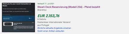 Steam Deck: Reservierungen für Valves Handheld werden bereits für über  2.000 Euro verkauft - Notebookcheck.com News