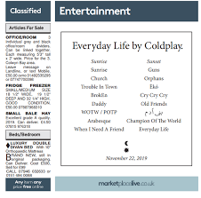 The Edge Cd Song List Coldplay New Album Song List And Release Date For Everyday