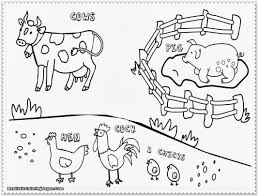 Farm Animal Coloring Book With Animals Clipart Also Preschool Kids