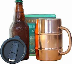 an insulated beer mug so they can e every last drop at the rature the beer s intended ice cold