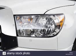 2008 Toyota Tundra in White - Headlight Stock Photo, Royalty Free ...