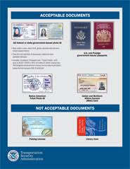 Today Airport Cards Identification Usa
