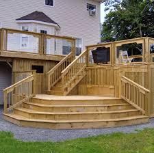 backyard deck design ideas.  Design Magnificent Raised Wooden Deck Design Ideas To Backyard
