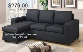 small sectional couch. Small Black Fabric Sectional Sofa Couch Set Modern Furniture L
