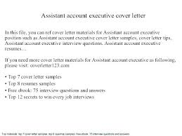 Account Executive Cover Letter Samples Sample Manager Cover Letters Letter Executive Samples Resume And
