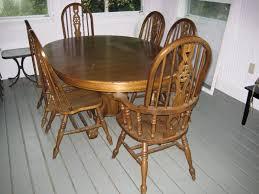 oak dining room set used