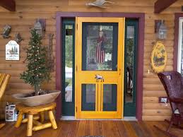 an example of a custom built old fashion wood screen doors tempered glass storm door
