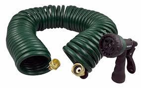 instapark ghn 06 heavy duty eva recoil garden hose with 7 pattern spray nozzle green 3 4 inch by 50 foot com