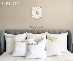 king size pillow size. Wonderful King Pillow Size Guide For King Beds Intended W