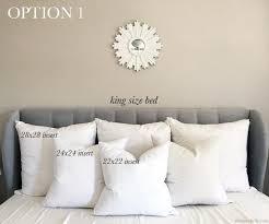 regular pillow size. Modren Regular Pillow Size Guide For King Beds Throughout Regular