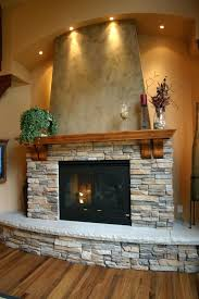 Stacked Stone Fireplace With Tv Above Outdoor Pictures Diy.