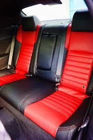 2016 dodge challenger custom rear leather interior seats