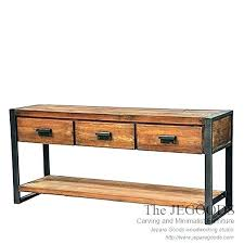 metal furniture plans. Rustic Wood Console Table And Metal Iron By Woodwork Industrial Plans Furniture S