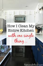 how i clean my kitchen