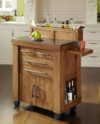 ... Kitchen Island, Kitchen Island Counter Small Kitchen Island Ideas With  Four Backless Stools With Rush ...