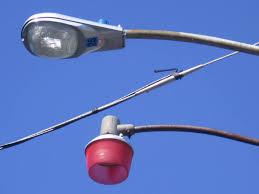 2003 american electric lighting model 115 mercury vapor incandescent fire light
