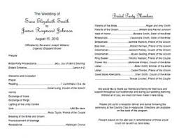 program template for wedding free wedding program templates