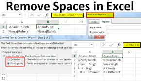 Remove Space In Excel Text Number 5 Methods To Remove Space