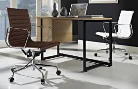 lexmod ribbed mid office. lexmod ribbed mid back office chair in terracotta genuine leather view larger lexmod