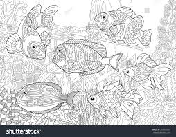 Coloring Page Of Underwater World Different