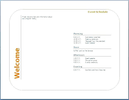 Event Itinerary Template Mesmerizing Generic Event Program Template Sample Itinerary Format Tripappco