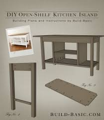 kitchen island plans. build a diy open-shelf kitchen island \u2013 building plans by basic @buildbasic