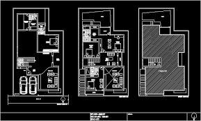 duplex house 4 bedrooms india dwg